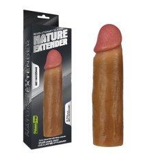 Насадка на пенис Nature Extender мулат плюс 3,5 см
